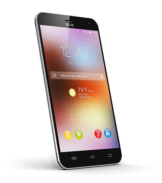 Modern touchscreen smartphone stock photo