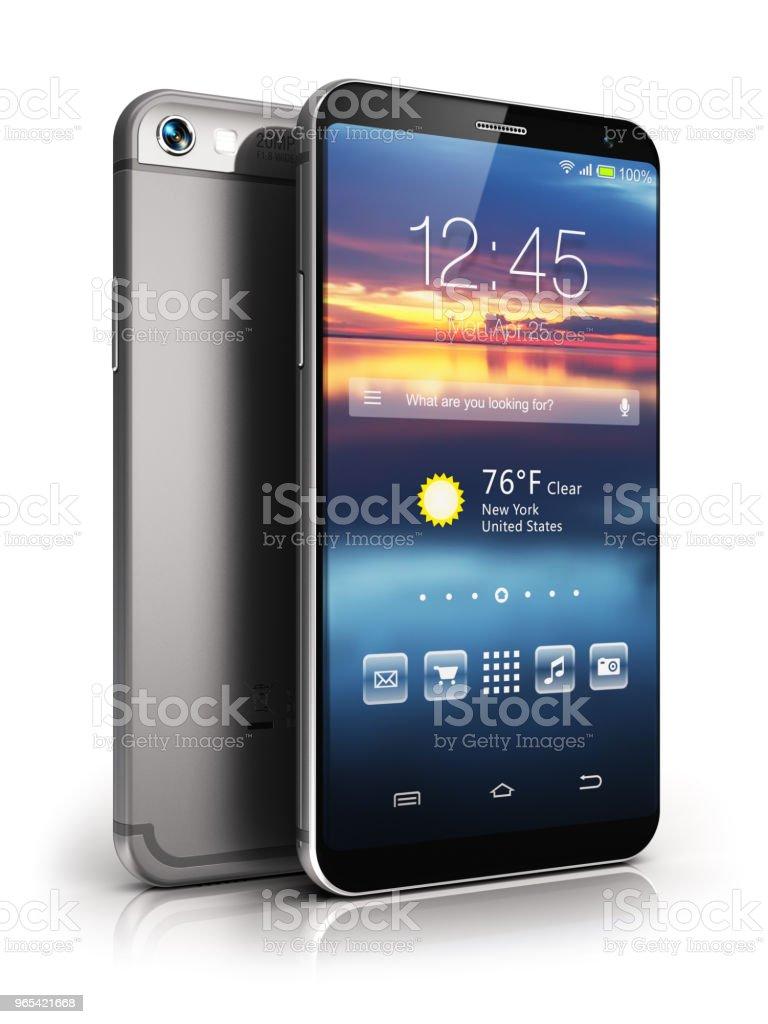 Modern touchscreen smartphone royalty-free stock photo