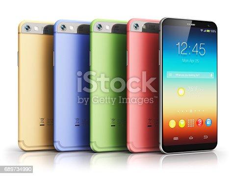 istock Modern touchscreen smartphones 689734990