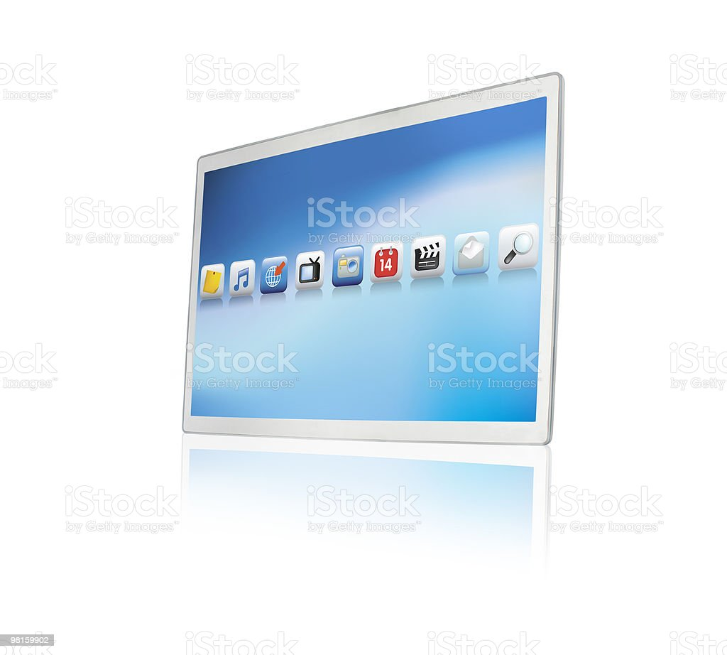 modern touchscreen tablet or screen royalty-free stock photo