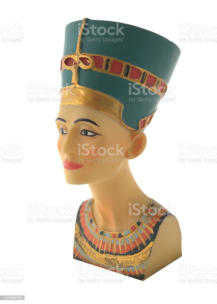 Modern touristic souvenir, copy of Queen Nefertiti's head royalty-free stock photo