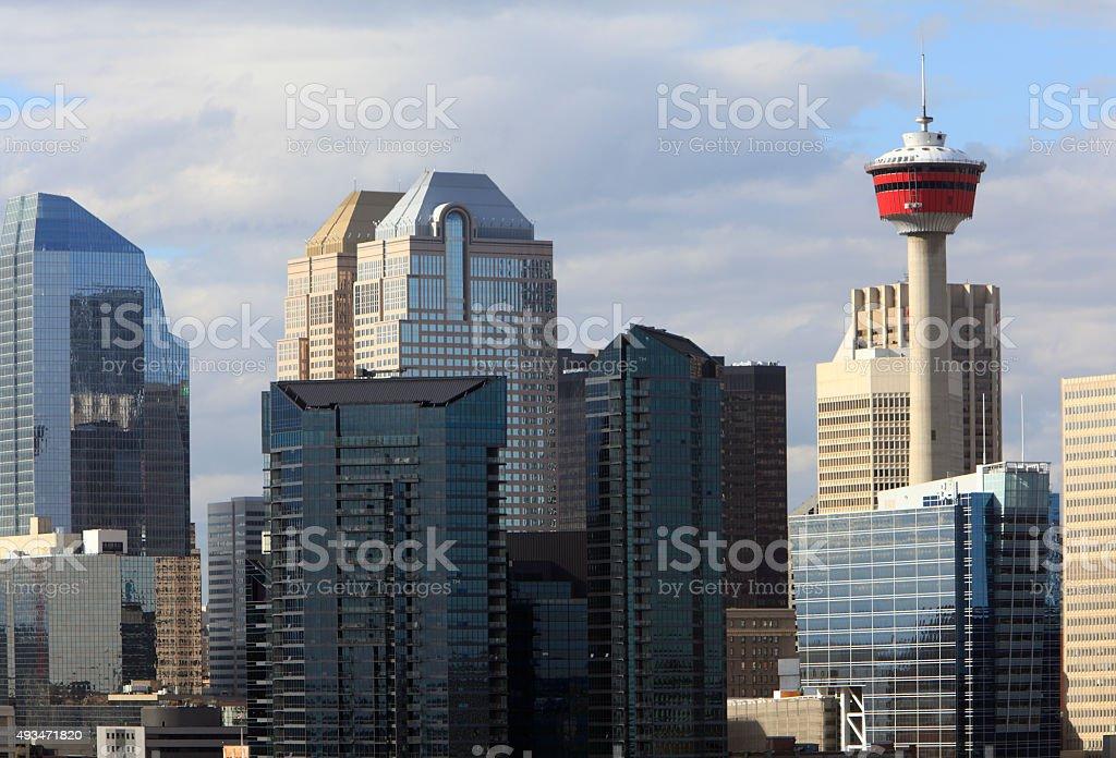 Modern Towers Of Calgary's Skyline stock photo