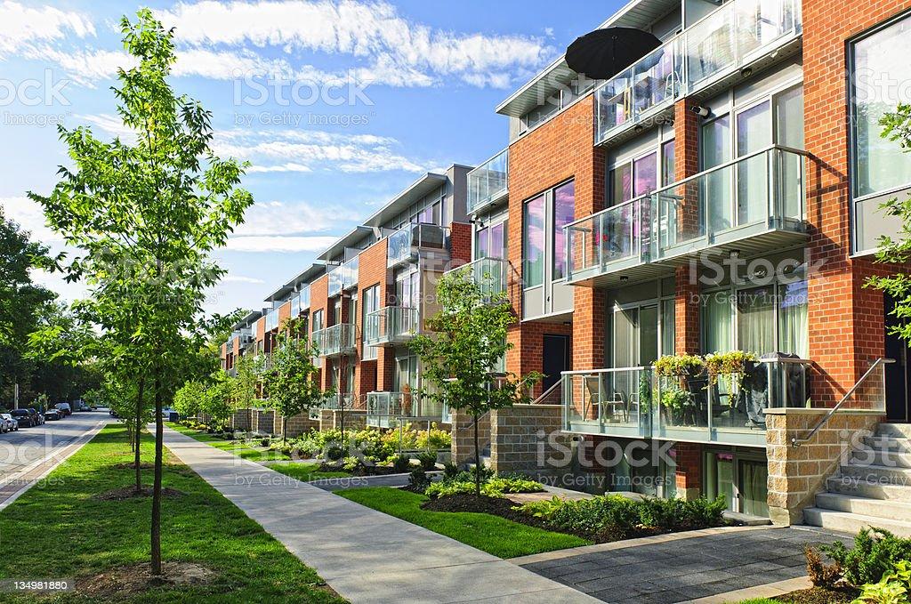 Modern town houses stock photo