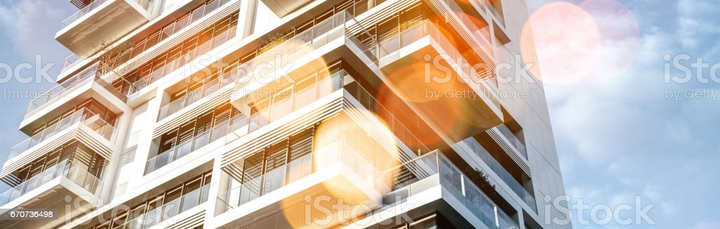 modern townhouse in Berlin stock photo