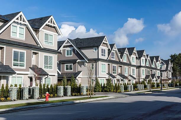 Modern Townhouses stock photo