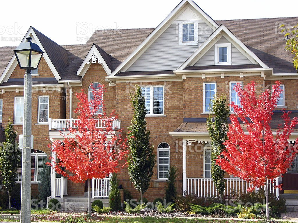 Modern Townhouses royalty-free stock photo