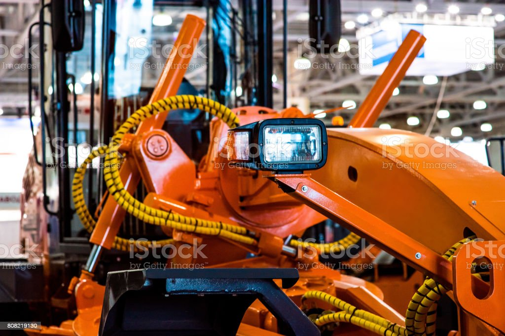 Modern Tractor Close-Up stock photo