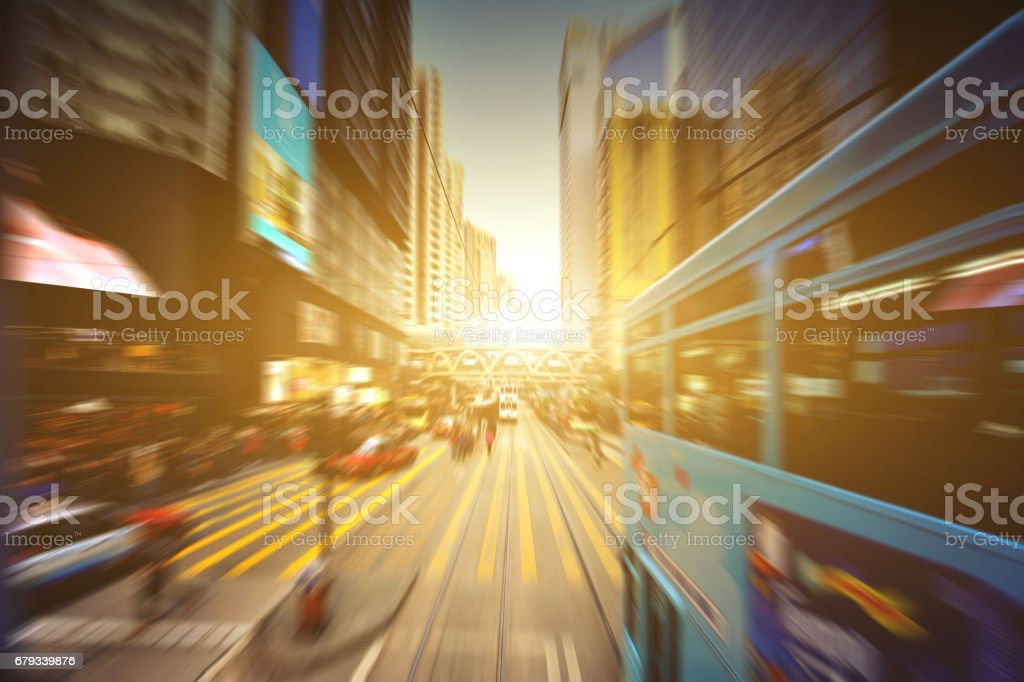 Modern Traffic at Hong Kong's Central District stock photo