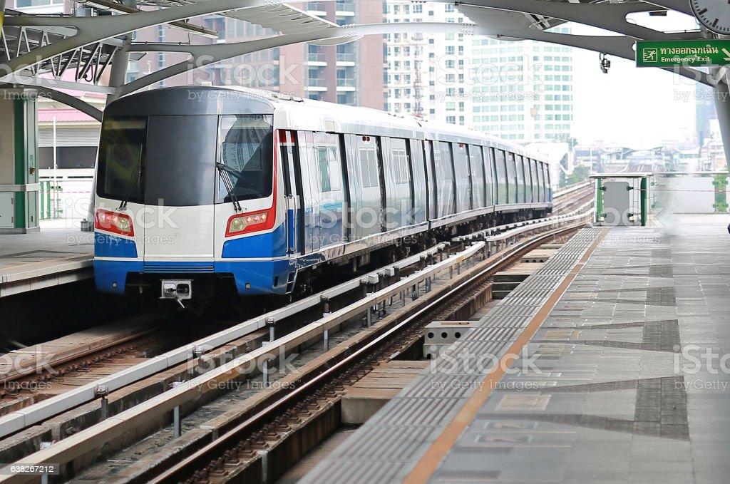 Modern train at bangkok,thailand stock photo