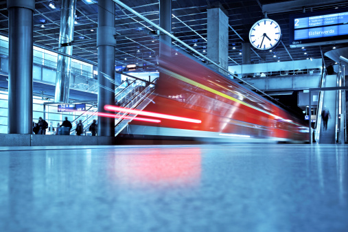 Modern Train Station Stock Photo - Download Image Now