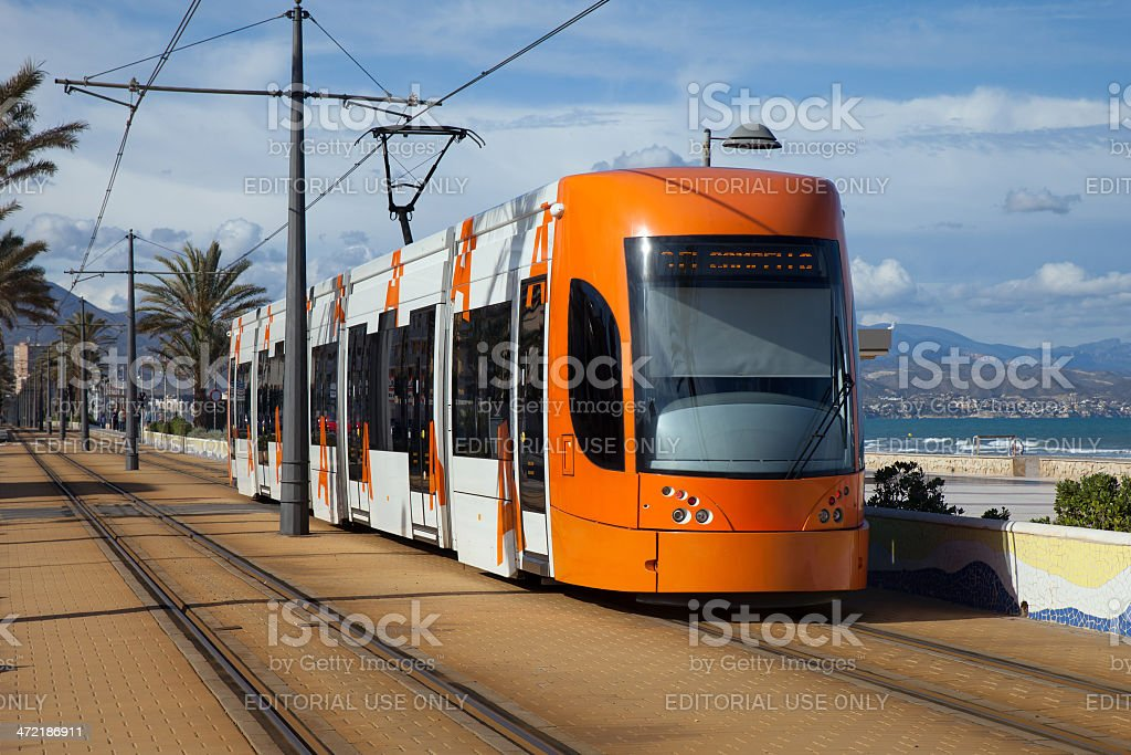 Moderna de tranvía foto de stock libre de derechos