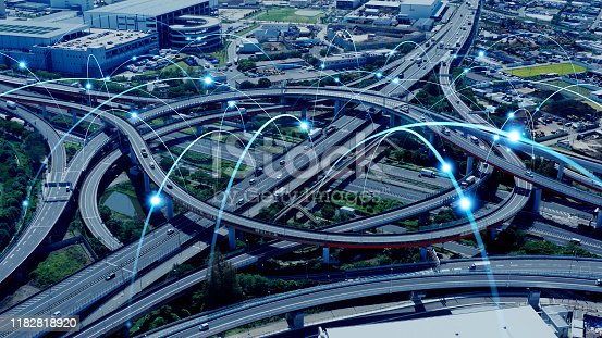 1140961203 istock photo Modern transportation and communication network concept. 1182818920