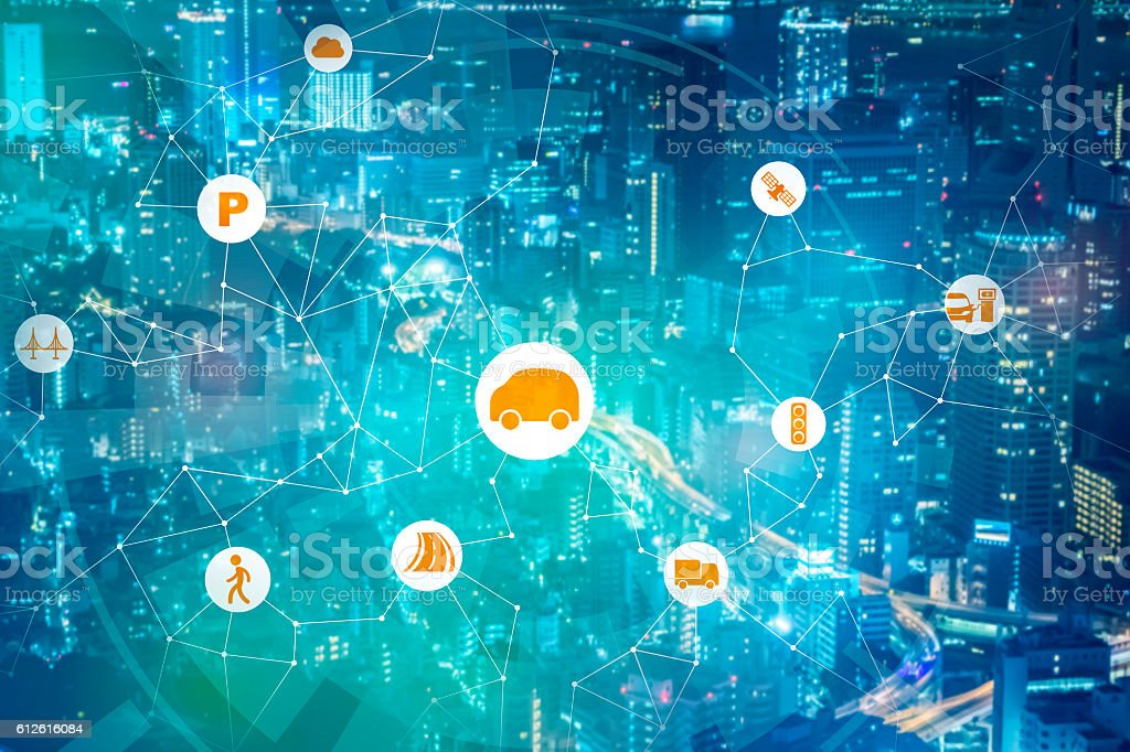 modern transportation and communication network - Royalty-free Abstract Stock Photo