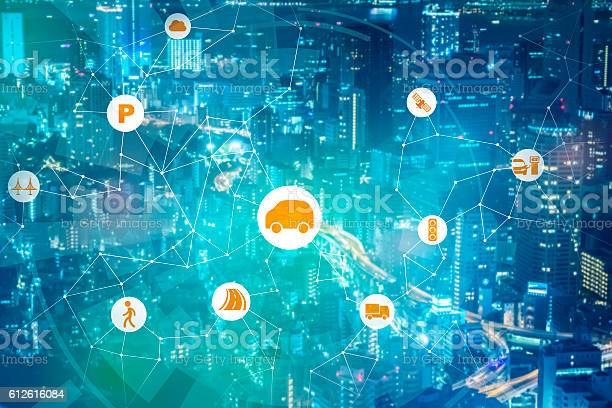 Modern Transportation And Communication Network Stock Photo - Download Image Now