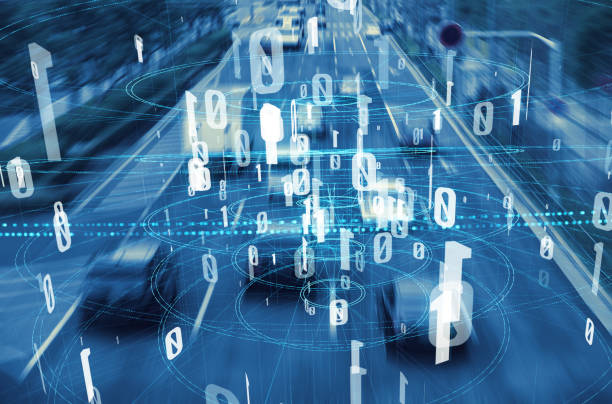 Modern transportation and digital network concept. Traffic monitoring system. stock photo