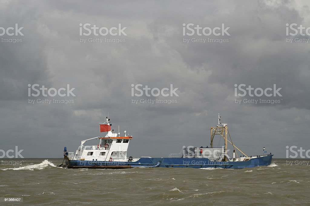 Modern Trawler stock photo