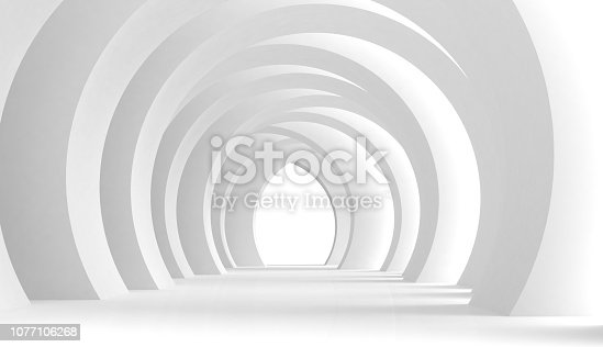 639291528 istock photo Modern tunnel hall 1077106268