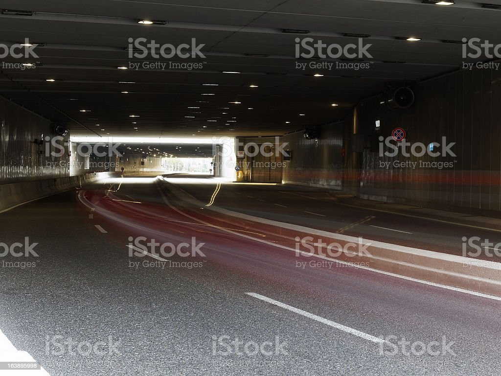 modern tunnel traffic street road light royalty-free stock photo