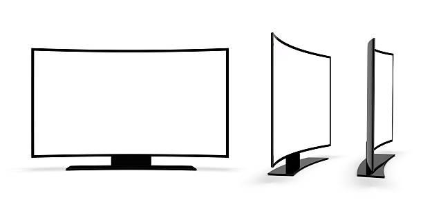 Moderne Fernseher auf einem weißen Hintergrund. – Foto