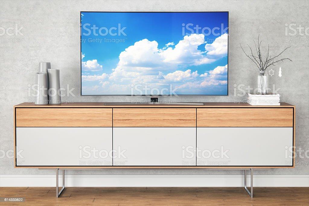 Modern TV Stand - foto de stock