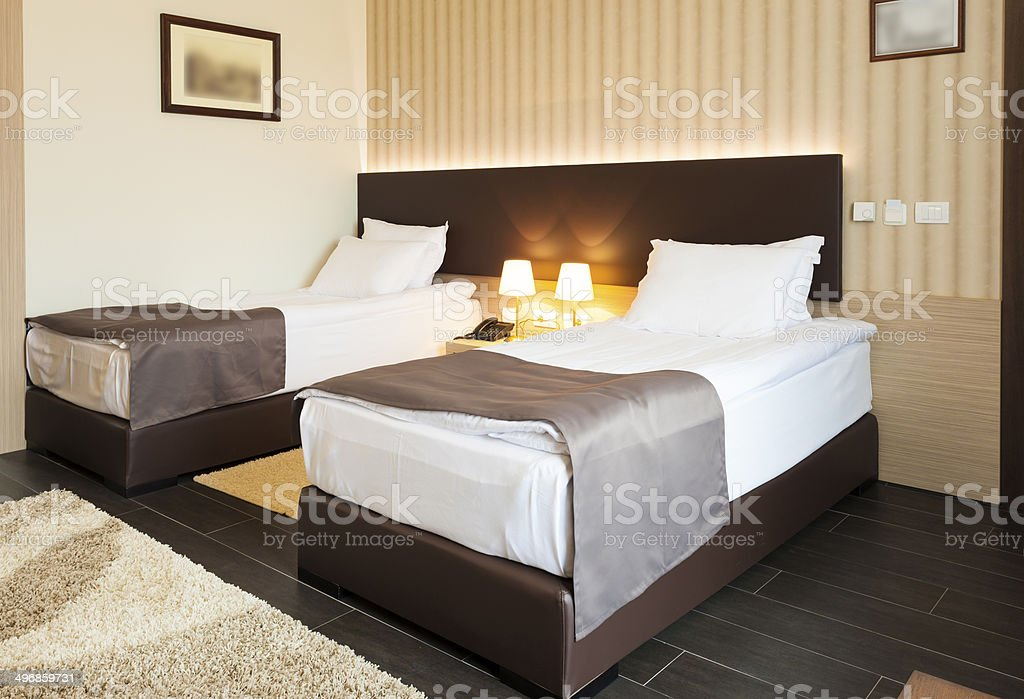 Modern Twin Room Interior Stock Photo Download Image Now Istock