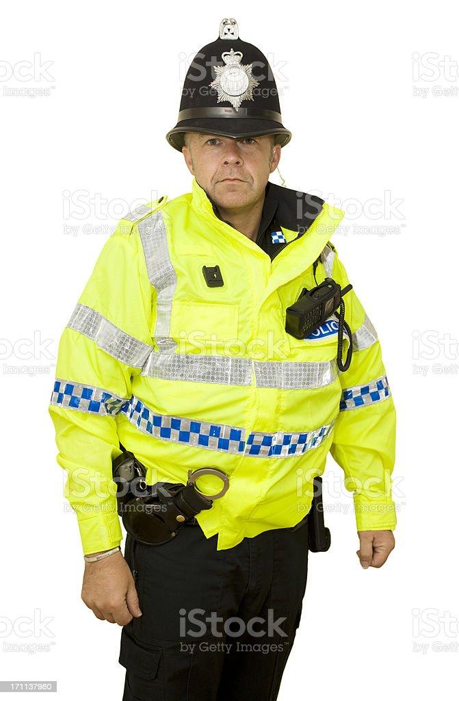 Modern UK Police Officer royalty-free stock photo