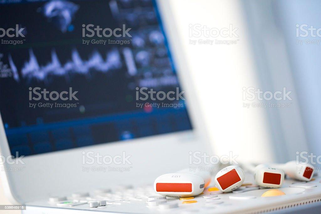 modern ultrasound machine stock photo
