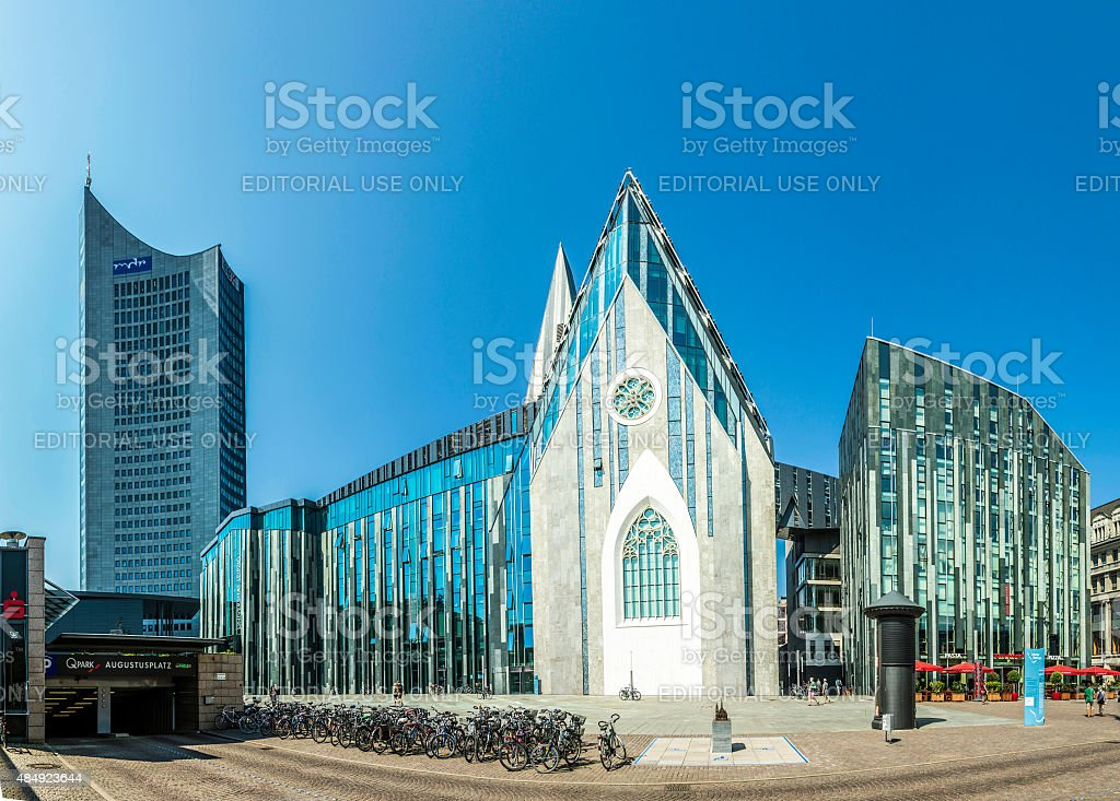 modern University hall in Leipzig stock photo