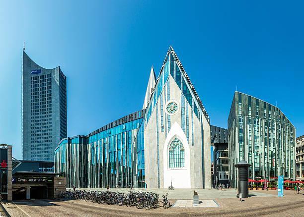 moderne university hall in leipzig - leipzig universität stock-fotos und bilder