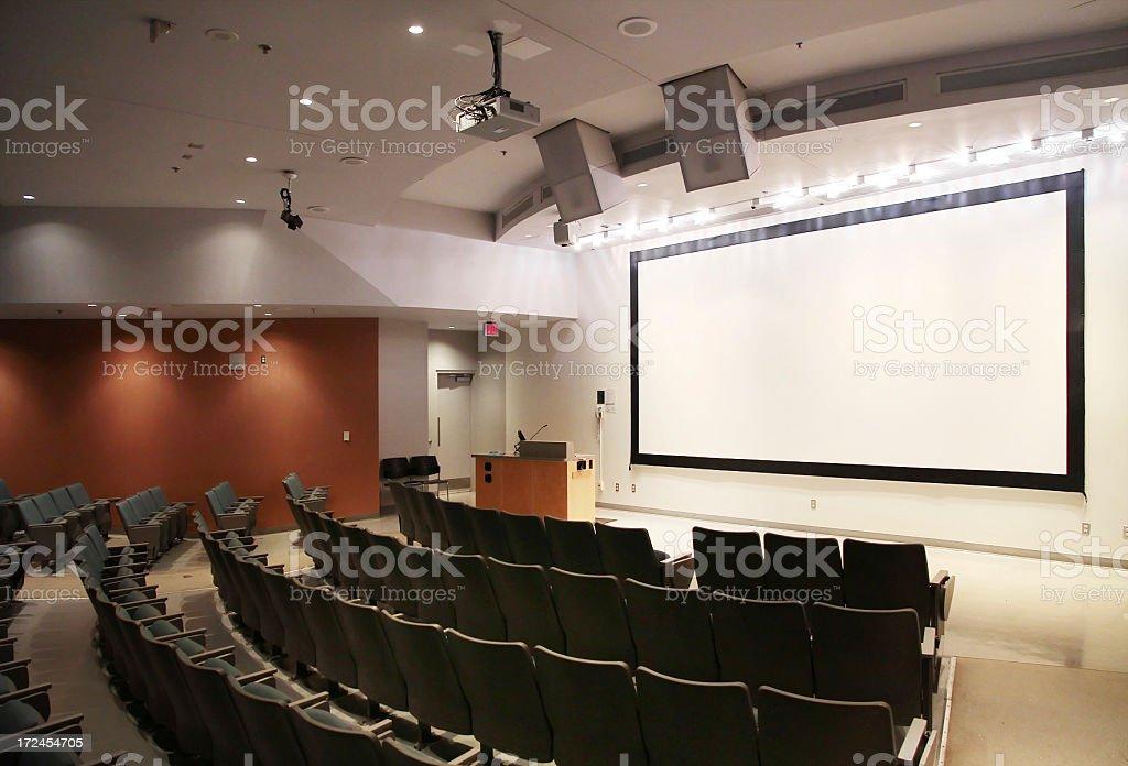 Modern University Lecture Hall stock photo