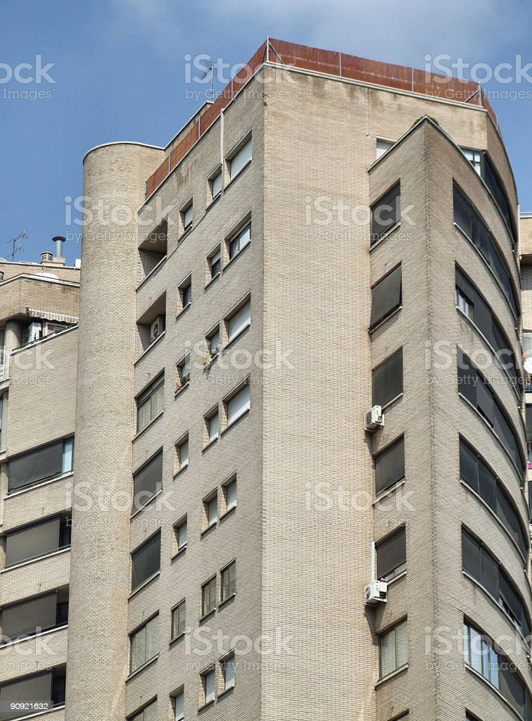 Modern unusual residential building royalty-free stock photo