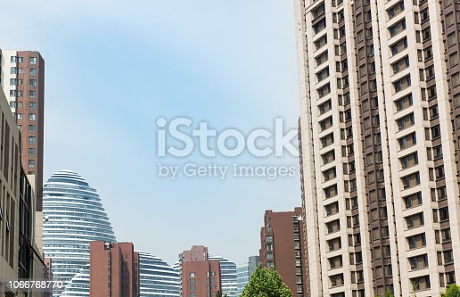 638467106istockphoto Modern urban architecture in summer 1066768770