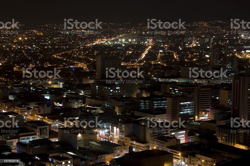 Modern Urban City At Night royalty-free stock photo