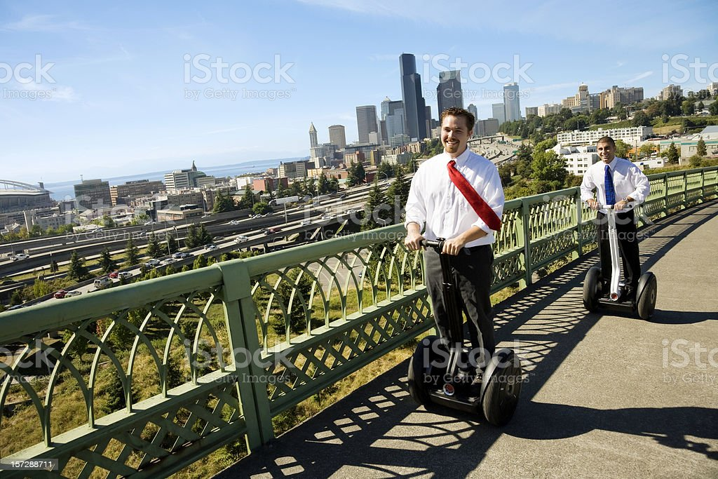 Modern Urban Commuters stock photo