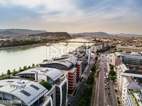 Modern architecture and cityscape in Budapest, Hungary