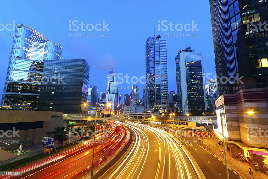 Modern urban traffic landscape royalty-free stock photo