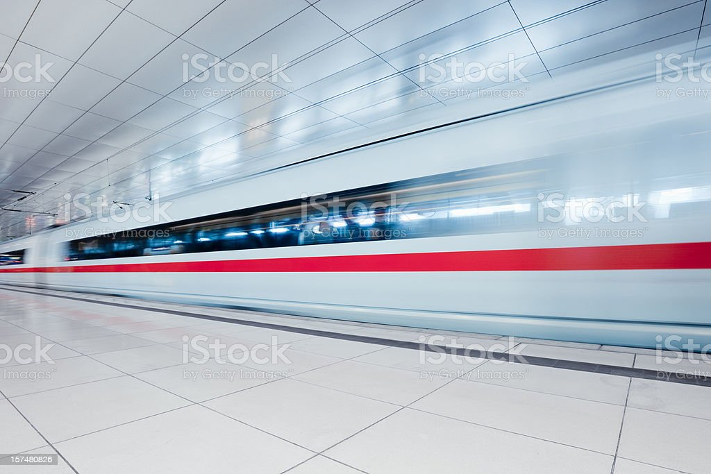 Modern Urban Train Station stock photo