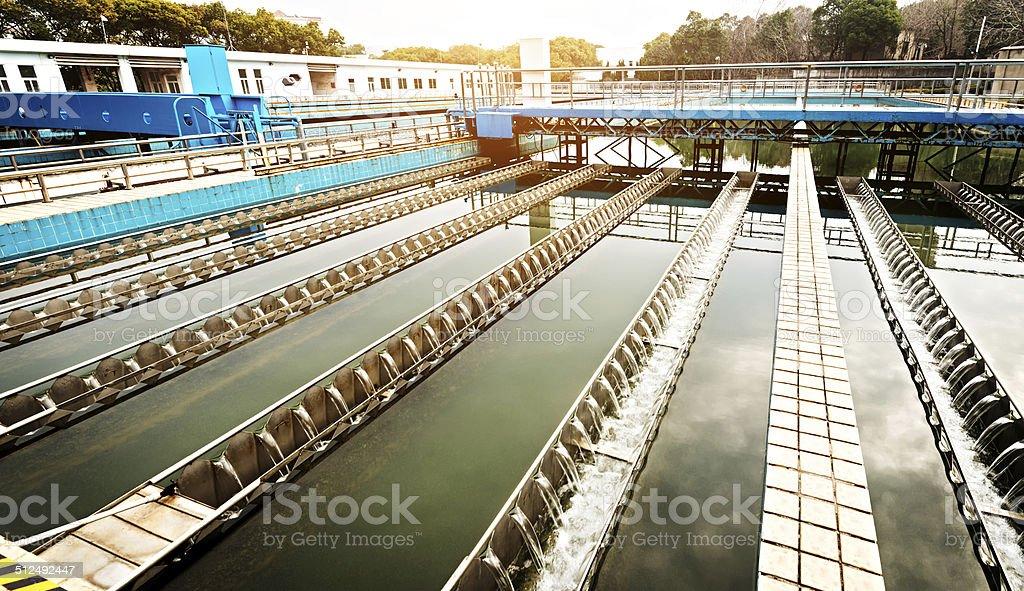 Moderne urbane Abwasserreinigungsanlage – Foto
