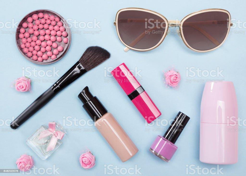 Modern urban woman essentials stock photo