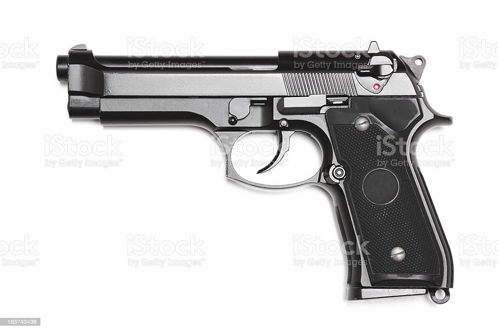 Modern U.S. Army handgun M9. stock photo