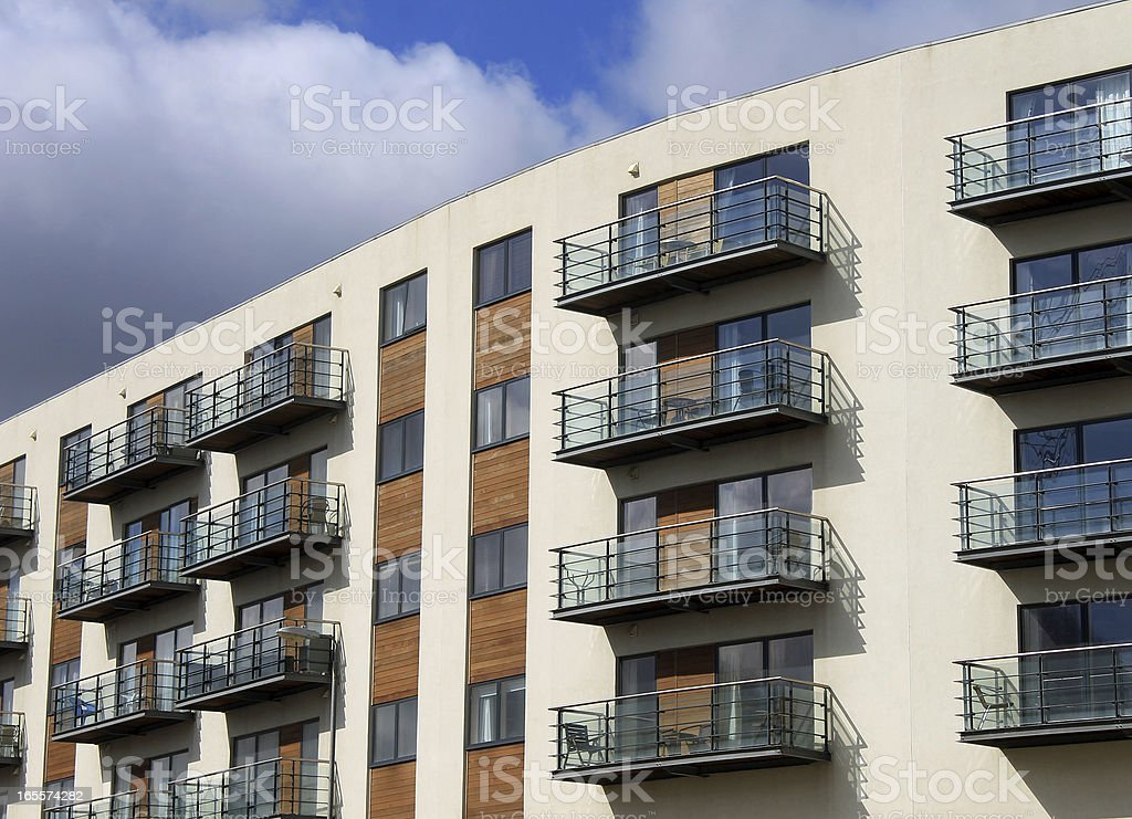 Modern vacation apartment building royalty-free stock photo