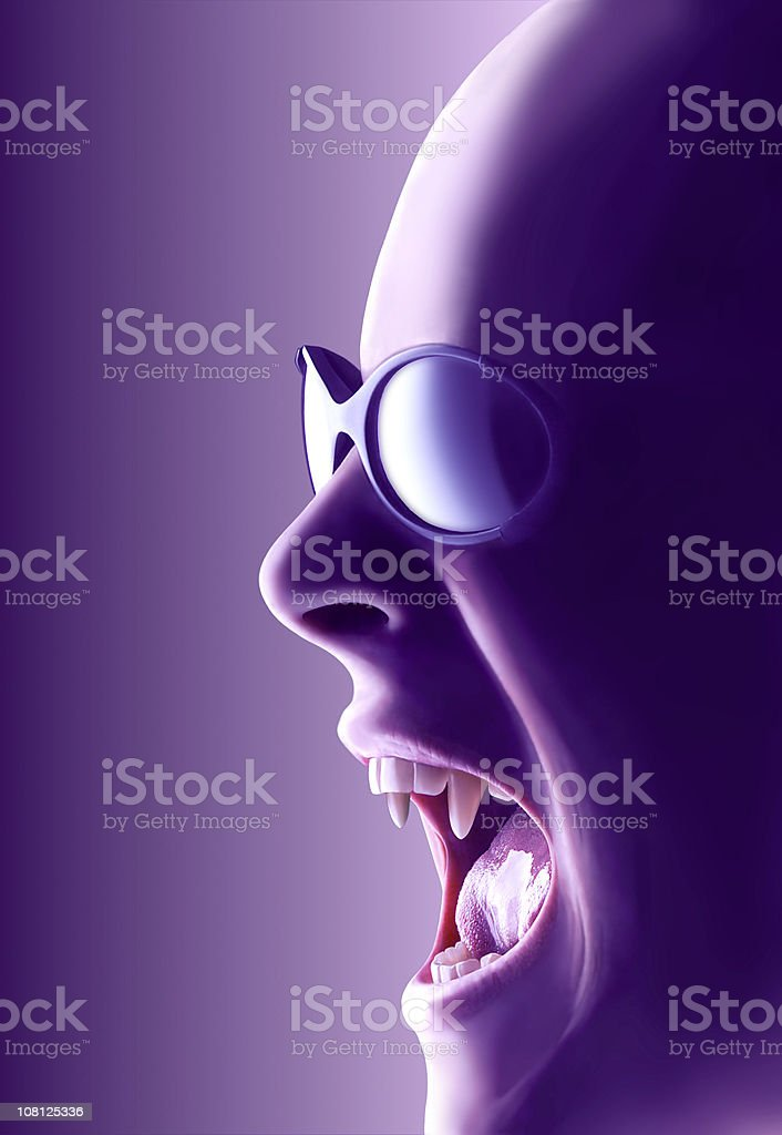 Modern vampire with path royalty-free stock photo