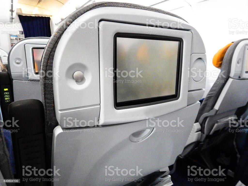 modern vehicle airplane seats stock photo