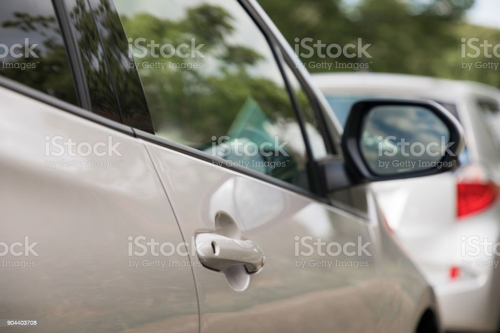 modern vehicle in the parking lot. stock photo