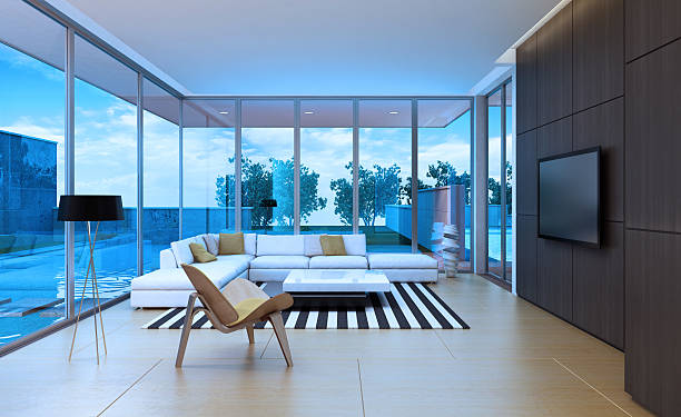 Modern Villa Interior stock photo