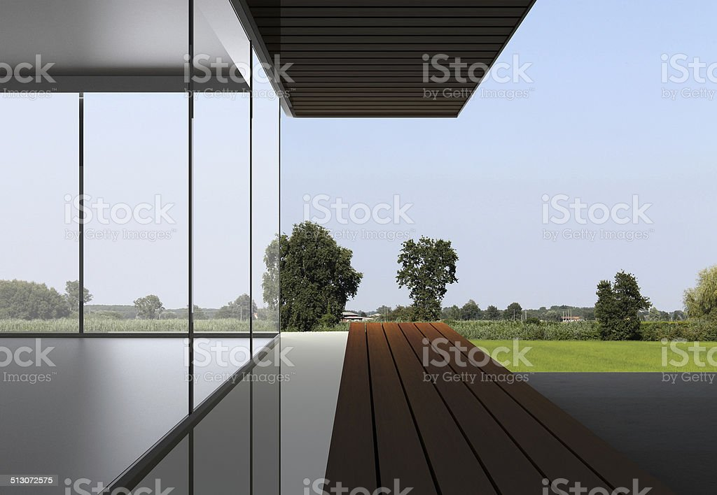 Modern Villa with a nice view stock photo
