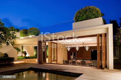 istock Modern Villa With A Pool 154956772