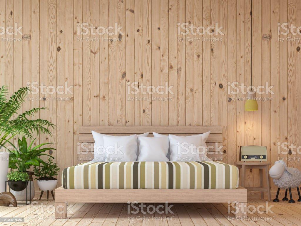 Exceptionnel Image De Rendu Moderne Chambre Vintage Interior 3d Photo Libre De Droits