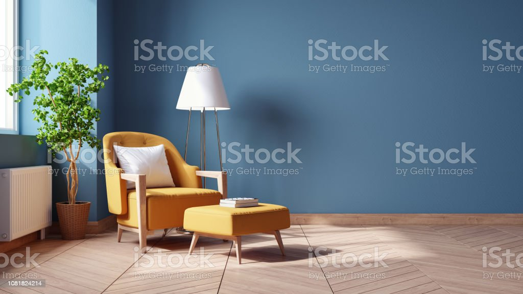Interior Vintage Moderno De Sala De Estar Concepto De