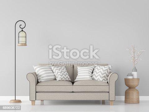 902720222istockphoto Modern vintage living room interior 3d rendering Image 689608722